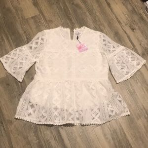 Chicwiah Summer Lovin' Embroidered Dolly Top